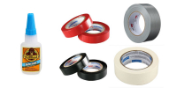 Glues and tapes